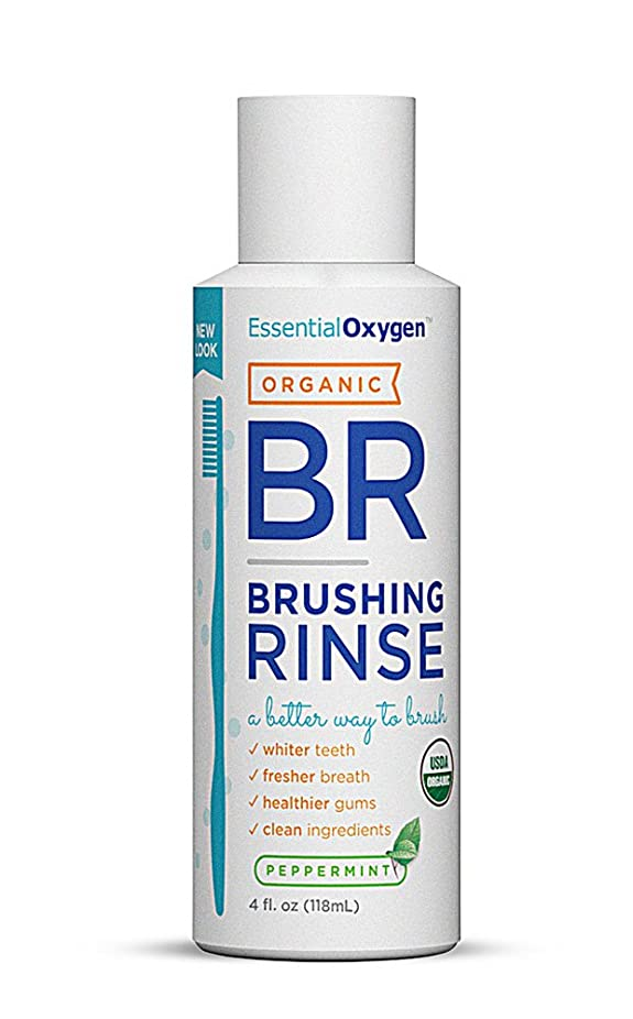 時計適性驚いたことに海外直送品Essential Oxygen+ Brushing Rinse, Peppermint 4 oz by Raw Essentials Living Foods