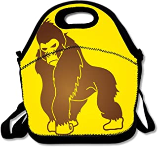 ゴリラモンキー 男の子 女の子 ポータブル 再利用可能 ランチバッグ トートボックス ハンドバッグ ランチボックス 防水 フードコンテナ 断熱 グルメ トート クーラー 暖かいポーチ 学校や職場に 調節可能なクロスボディストラップ