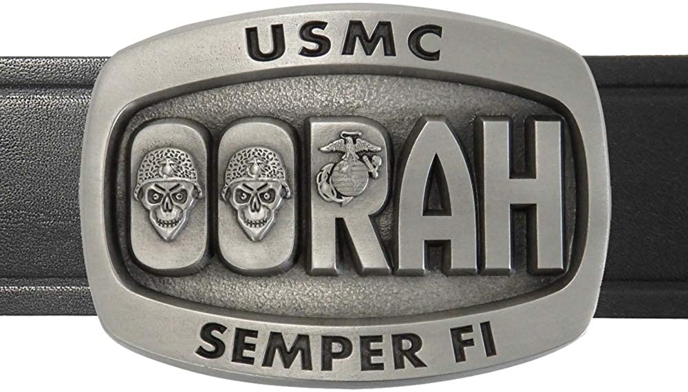 Indiana Metal Craft USMC Oorah Pewter Made Max 53% OFF and Quality inspection Belt US Buckle in