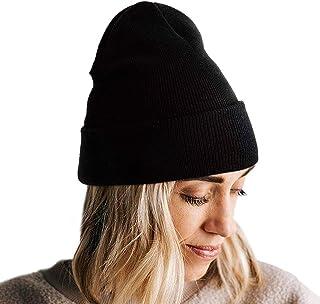 Lvaiz Winter Knitted Cuffed Beanie for Women Unisex Slouchy Rib Knit Men Watch Hat Acrylic Skull Cap