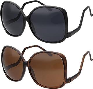83722923d87 grinderPUNCH Women s Oversized Square Drop Temple Fashion Sunglasses