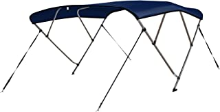 Leader Accessories 4 Bow Bimini Tops Boat Cover 4 Straps for Front and Rear Includes Hardwares with 1 Inch Aluminum Frame