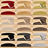 Kettelservice-Metzker Stufenmatten, Treppenteppich Marseille Halbrund - Trittfläche: ca. 65x24cm Sand 14 Stück
