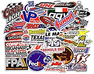 Racing Stickers Pack [50pcs] Laptop Stickers Bomb Stickers and Decals Vinyl Stickers for Luggage Skateboard Phone Case Gui...