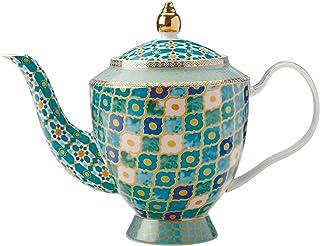 Maxwell & Williams Herbaty & C's Kasbah dzbanek do herbaty z zaparzaczem w pudełku upominkowym, porcelana, miętowa zieleń,...