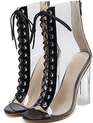 XIEZI Hart mit den Crystal MIT transparenten WeißLICHE - Sandalen und Mode