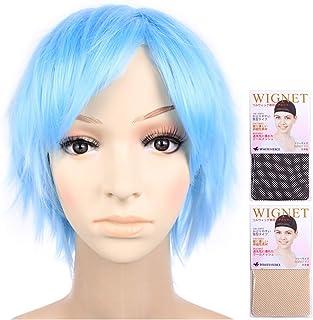 (Two wig + Stand + hair net) Basketball Kuroko Tetsuya ice blue light blue CaseEden original 4-piece set of [cosplay wig short 35cm heat high quality Kuroko regular article] (japan import)