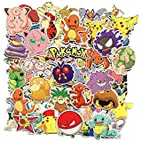 Sanmatic 81 Autocollants Pokemon Pack, Unique Cool Stickers Kid Teens Notebook Guitar...