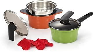 Happycall 6 Piece Cookware Pot Set Kitchen Aluminum Ceramic Coating Non Stick Happy Call