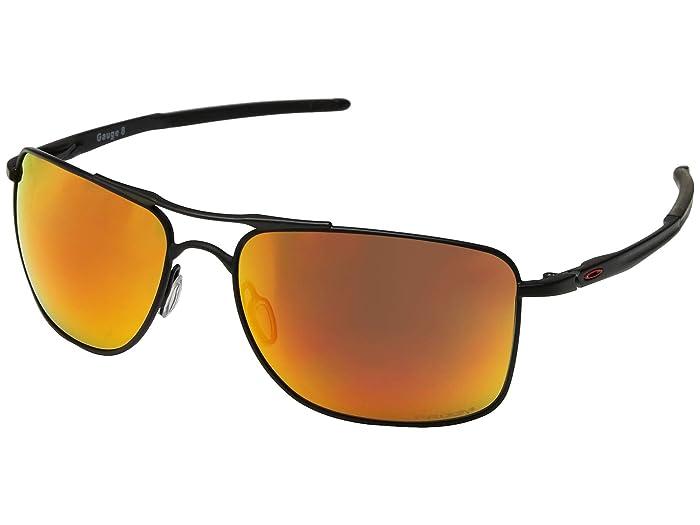 Oakley Gauge 8 (Matte Black/Prizm Ruby 1) Sport Sunglasses