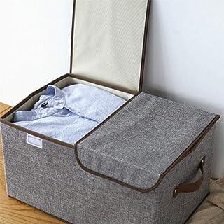 zyl Boîte de Rangement Pliable en Coton à Double Couverture boîte de Rangement de Jouets pour vêtements Divers Multifoncti...