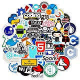 JINGZHONG 50 pcs/Pack langage de Programmation C ++ Java Python Autocollants pour réfrigérateur Voitures Casque Bricolage boîte-Cadeau vélo Guitare Skate Etc