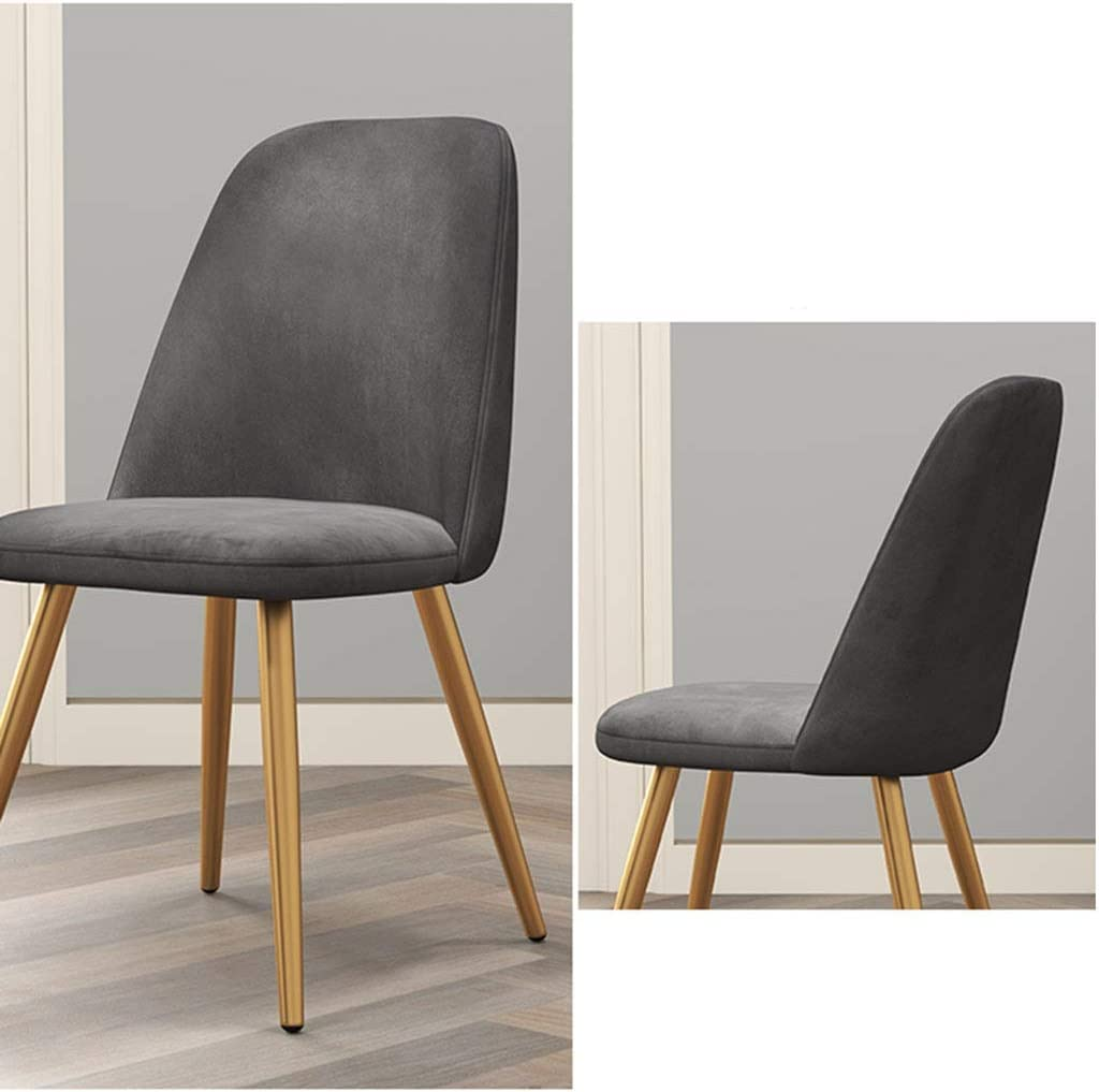 Repas chaises vintage Velvet siège pieds en métal avec Cuisine Chaises Dossier for Loisirs Salon Chaises Réception Chambre (Color : Camel) Gray
