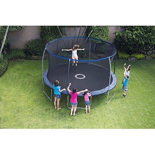 Bounce Pro 14Ft Trampoline With Enclosure Safety Net for Kids and...