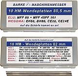 Hobelwendemesser , passend für : Elu, WEGOMA, Gesamtlänge : 80,5 mm
