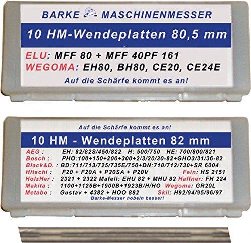 Preisvergleich Produktbild Hobelwendemesser ,  passend für : Elu,  WEGOMA,  Gesamtlänge : 80, 5 mm
