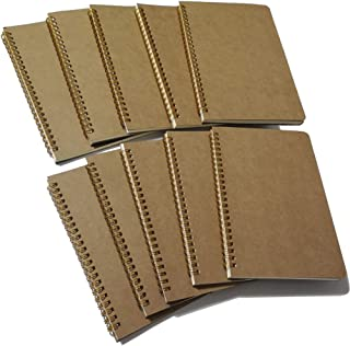Softcover Spiral Notebook Lined/Spiral Journal, 50 Sheets (100 Pages) Wide Ruled Notebook, 10 Notebooks Per Pack, A5, 8.5