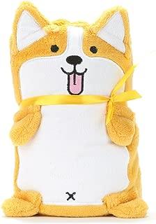 Alcea Rosea Coral Fleece, Animal Theme, Gift,Dog, Baby Blanket 40'' x 32'' (Yellow Corgi)