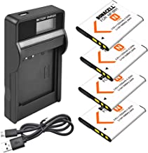 Bonacell NP-BN1 4 Pack Battery and LCD Charger Compatible with Sony Cyber-Shot DSC-QX10 QX30 QX100 T99 T110 TF1 TX10 TX20 TX30 TX55 TX66 TX100V TX200V W310 W320 W330 W350 W530 W515PS W570 W650 W800