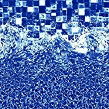 24 Foot Overlap Above Ground Swimming Pool Liner - HD Sea Glass & Waves - Durable 25 Gauge Premium Vinyl - Laguna Mist Pattern Swimming Pool Liner