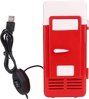 Mini BäRbar Kyl, USB Mini Personligt KylskåP Inbyggda LED Lampor VäRme och Kyla KylskåP med Dubbla AnväNdningsområDen för ...