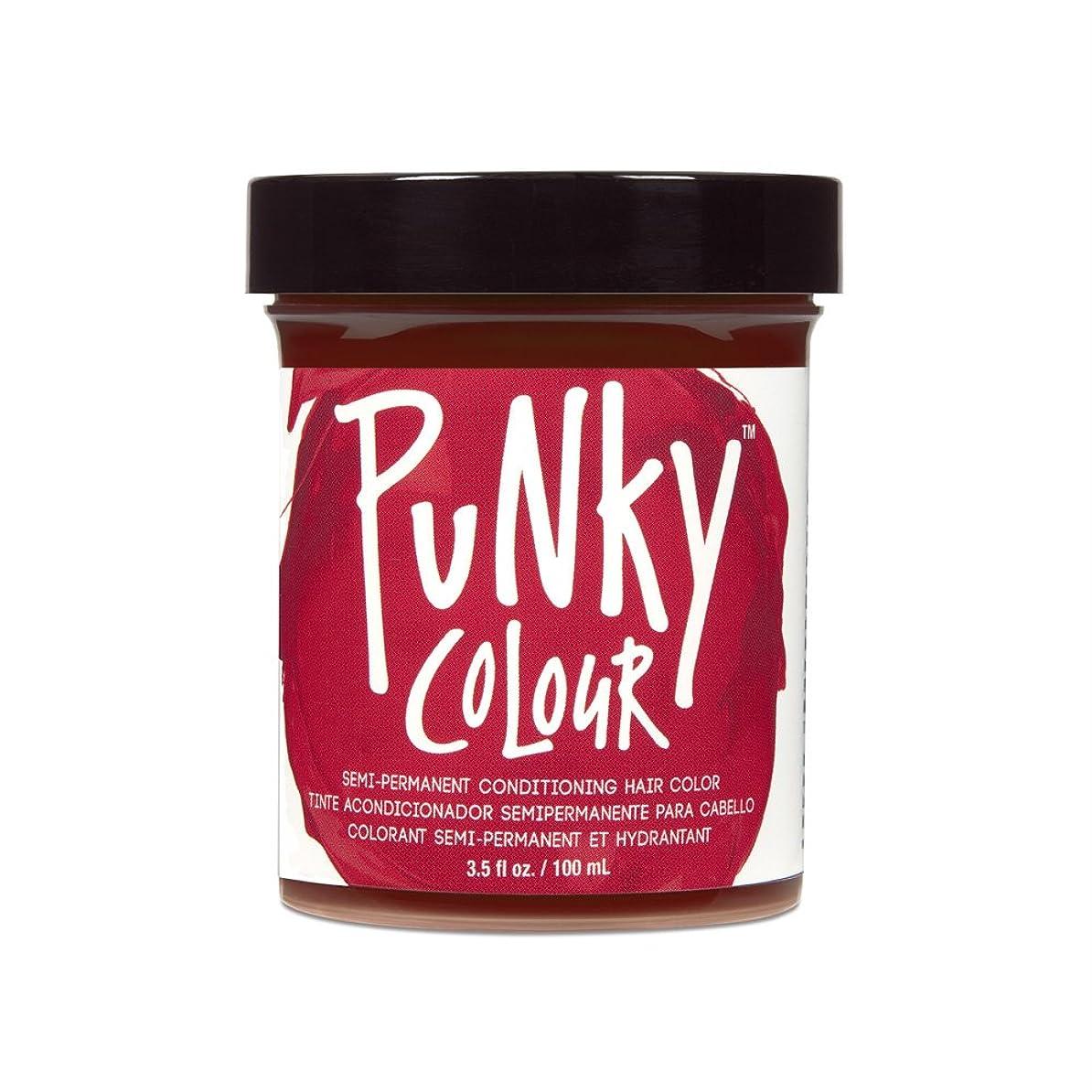 いちゃつくおかしいゆるく(6 Pack) JEROME RUSSELL Punky Color Semi-Permanent Conditioning Hair Color - Vermillion Red (並行輸入品)