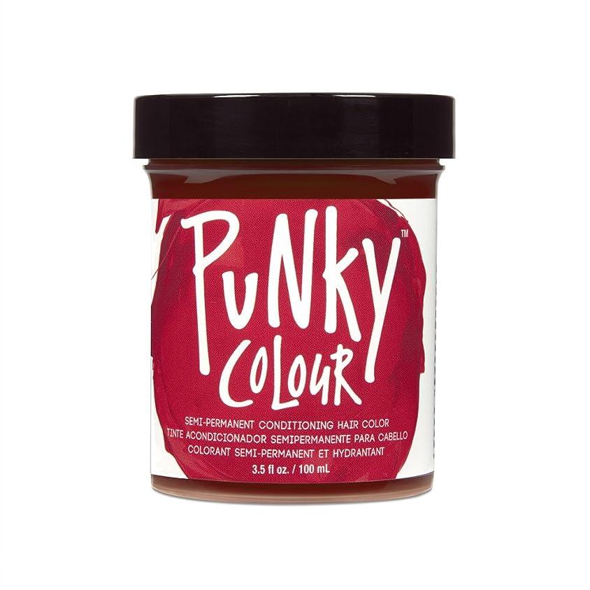 強風火山学レーザ(3 Pack) JEROME RUSSELL Punky Color Semi-Permanent Conditioning Hair Color - Vermillion Red (並行輸入品)