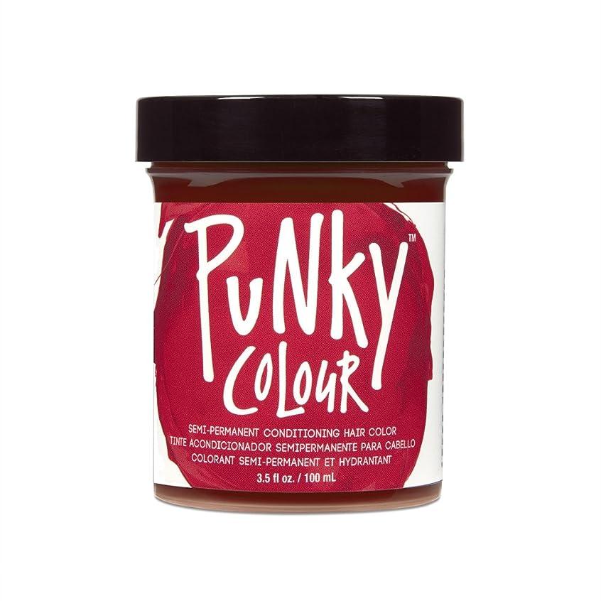 ただやるダム太平洋諸島(6 Pack) JEROME RUSSELL Punky Color Semi-Permanent Conditioning Hair Color - Vermillion Red (並行輸入品)