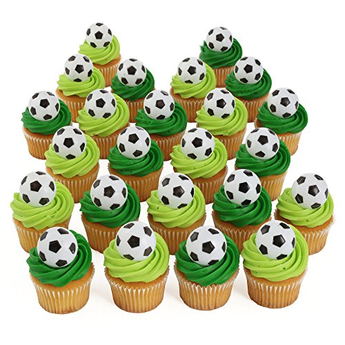 Bakery Crafts Soccer 24 Cupcake Topper Rings Arizona