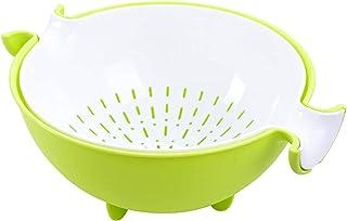 CHICHIC 2 in 1 Kitchen Strainer/Colander Bowl Sets, Large Plastic Washing Bowl and Strainer, Detachable Colanders Strainer...