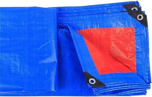 GLP épais pluie bache imperméable Prougeection solaire Isolation extérieure Toile Transport de voiture Prougeection contre la pluie Prougeection de l'environneHommest Hangar Tissu Bleu + Rouge (160g   mètre ca
