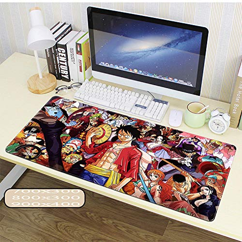 Mouse Pad One Piece XXL Anime Alfombrilla para ratón 900 x 400 mm - Speed Gaming Mousepad - Mouse Pad para Ordenador - 3mm Goma Antideslizante, para Gamers Ordenador, PC y Laptop-1_800x400