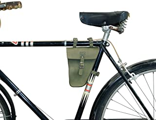 Hide & Drink, Leather Frame Bag for Bicycle/Triangular/Bike/Tool Pouch/Accessories/Biker Essentials, Handmade Includes 101 Year Warranty :: Peat Moss