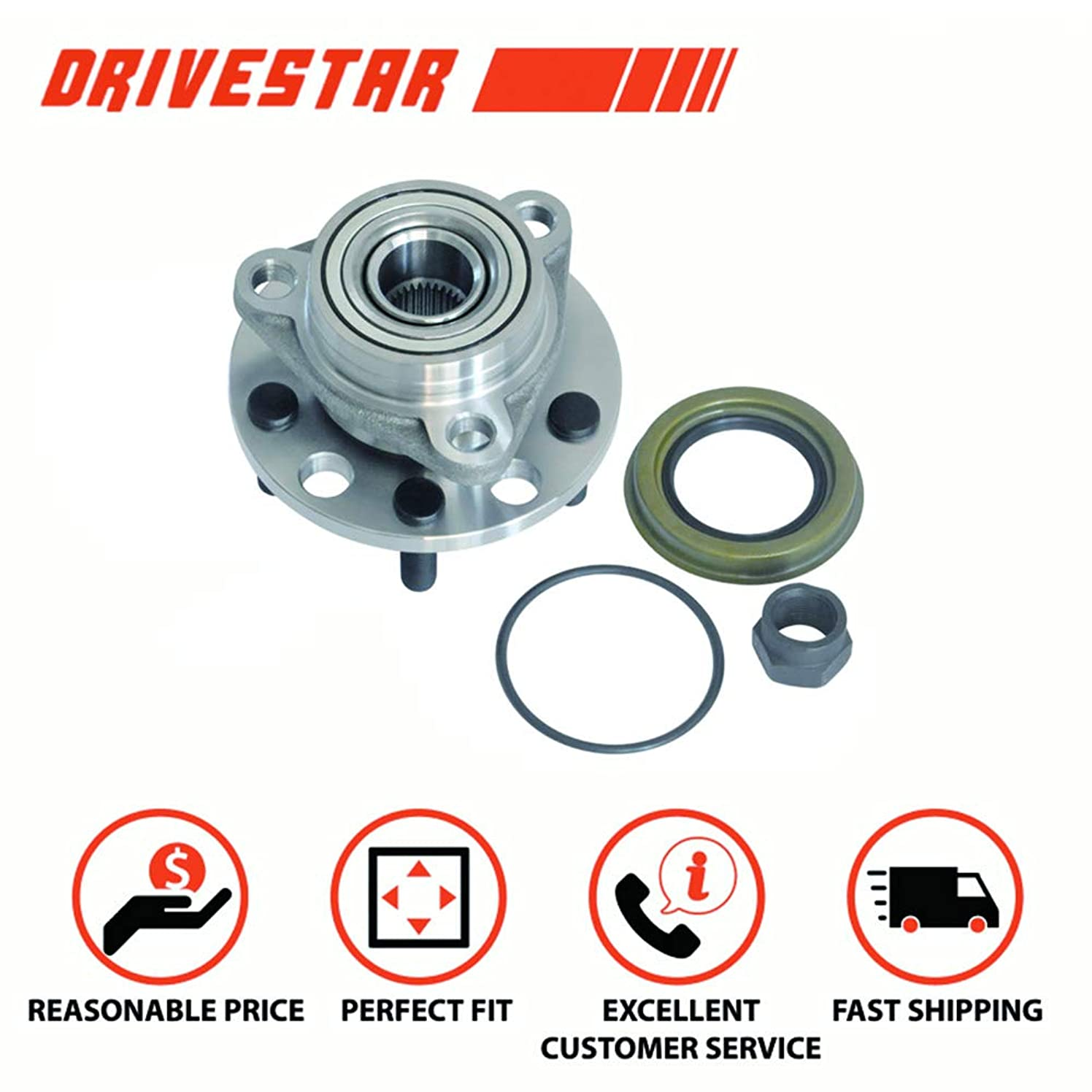 DRIVESTAR 513017K Wheel Bearing & Hub Assembly for Chevy Buick Cadillac Olds