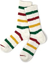 TMSO-122 Savanna Border Hemp Socks Lady's(23cm~25cm) ビンテージマシンで編んだ奈良産の麻靴下 吸湿・速乾・耐久性に優れた靴下 麻 綿使用 オーガニック 日本製