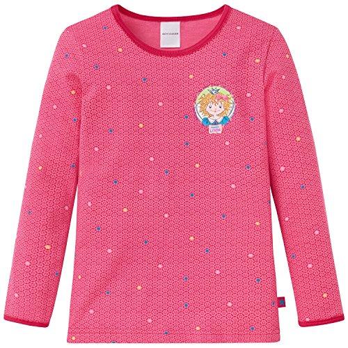 Schiesser Mädchen Prinzessin Lillifee 1/1 Unterhemd, Rot (pink 504), 116