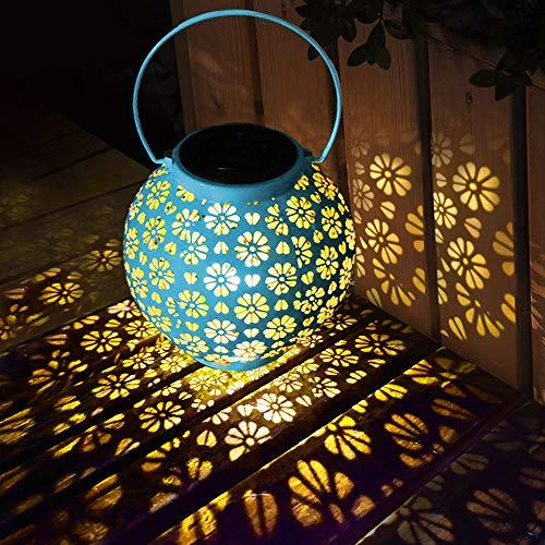 LED Solar Laterne Aussen, Solarlaterne für Außen Solarleuchte Garten Hängend Outdoor Deko Solarlampen für Außen Wasserdichte Solar Licht Garten für Terrasse, Pathway, Veranda, Terrasse