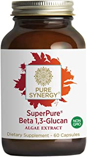 Pure Synergy SuperPure Beta 1,3 Glucan 500 mg (60 Capsules) Immune Health Booster - 100% Made and Sourced i...