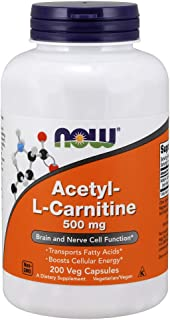 NOW Supplements, Acetyl-L Carnitine 500 mg, Amino Acid, Brain And Nerve Cell Function*,..