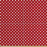 ABAKUHAUS Retro Stoff als Meterware, Polka Dots