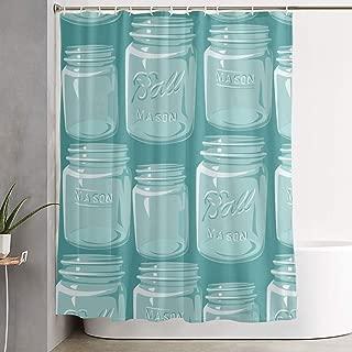 POP MKYTH Waterproof Shower Curtains 60x70 inches - Mason Jars - Bathroom Shower Curtains, Quick-Dry Fabric Bath Decor Set with Hooks
