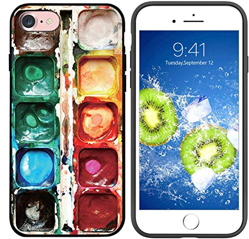 Compatible with iPhone 7/8/SE 2020 Case, Abstract Watercolor Paint Box Designed for iPhone 7/8/SE 2020 Case, Slim Fit Shockproof Drop Protection Phone Case for iPhone 7/8/SE 2020 4.7 inch (Paint Box)