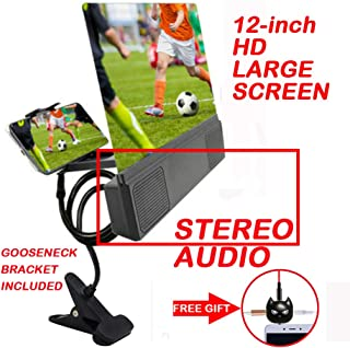 Flurries 👍 12-inch Mobile Phone HD Projection Adjustable Bracket with Speaker - Large Screen Audio High Definition Amplifier Enlarger Projector - Smart-Phone Lazy Arm Magnifier Holder Stand