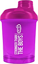 Pure Nutrition Rainbow Protein Shaker Bottle 10 Fresh Colors Motivating Signs Men Women Comfortable Reliable High Quality BPA Free with Strainer Gym Fitness Bodybuilding 600 300ml Mini Pink 300 ml Estimated Price : £ 6,99