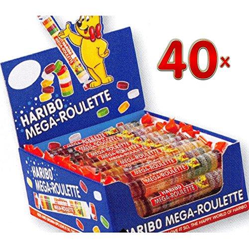 Haribo Mega Roulettes Fruits 40 x 45g Rollen (Fruchtgummi-Taler)