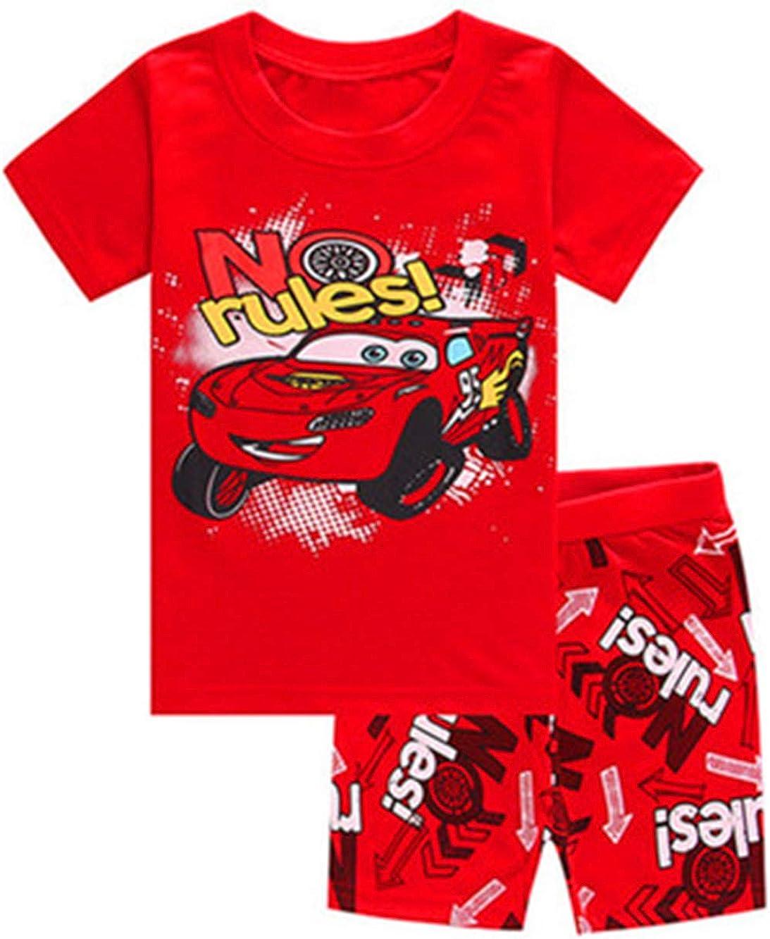 Boys Pajamas Set 100% Cotton Spiderman Kids Short Pjs Summer Toddler Sleepwear