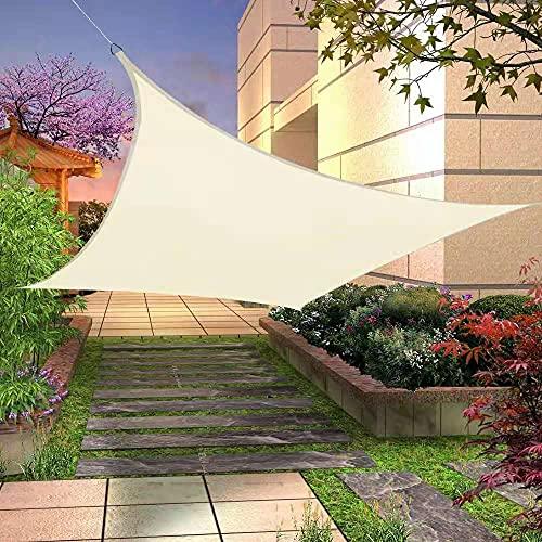 ZHANGLE Toldo rectangular de protección UV para exteriores, 500 x 500 cm, impermeable, tela Oxford, fácil de usar y transportar para terraza, cubierta y actividades al aire libre