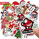 Yisscen Paquete Pegatinas, 50 Piezas Vinilos Graffitti de Navidad, Usado para Decoración de Fiesta de Navidad, Graffiti de Coche, Botella de Agua, Motocicleta Stickers