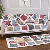 Suuki Funda para sofá y Protector para Mascotas,Manta de sofá Acolchada Cuadrada,Protector de sofá seccional de algodón Universal,Fundas de sofá Modernas,tapetes Suaves-UNA_Funda de Almohada 50x50cm