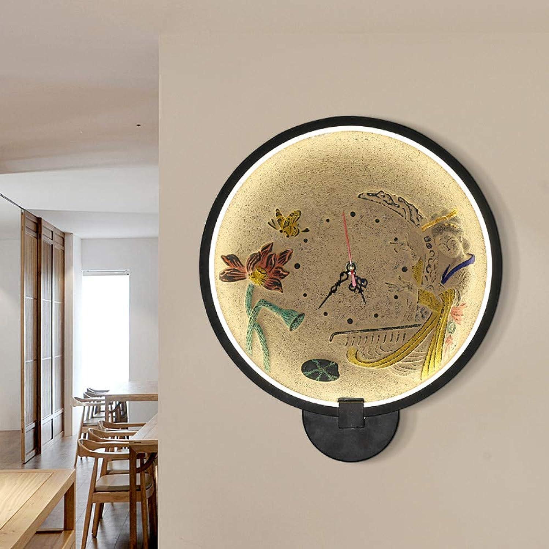 DACHAGNDJ Retro Wandlampe,Europische Retro-wandlampe,Moderne Stil Kristall Anhnger Wandleuchte,Acryl WandbeleuchtungWandlampe Wohnzimmer Uhr Licht einfache Wandlampe, A, 30  34cm
